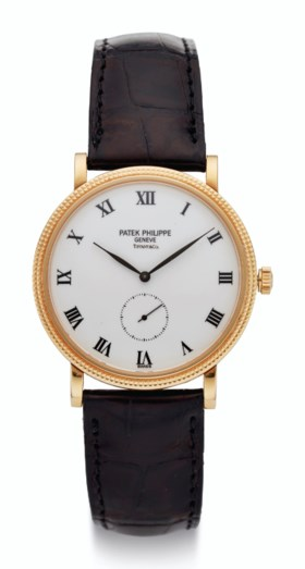PATEK PHILIPPE, 18K GOLD, RETAILED BY TIFFANY & CO, REF 3919