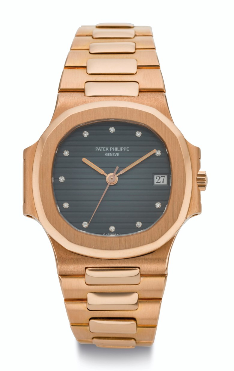 Patek Philippe, Nautilus, 18k pink gold and diamond-set wristwatch with bracelet, ref. 38001. Estimate $250,000-450,000. Offered in  Rare Watches New York Online, 24 November to 10 December 2020, Online