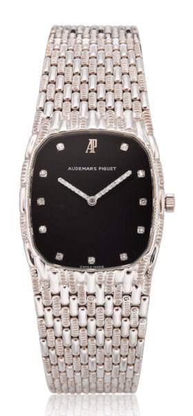 AUDEMARS PIGUET, 18K WHITE GOLD BRACELET WATCH