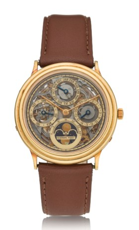 AUDEMARS PIGUET, 18K SKELETONIZED PERPETUAL CALENDAR WITH MO