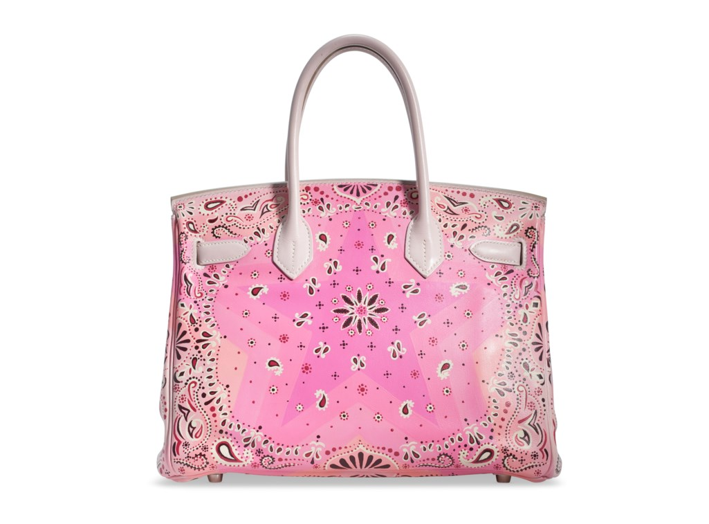 A PAINTED ROSE DRAGÉE SWIFT LEATHER BIRKIN 30 WITH PALLADIUM HARDWARE
