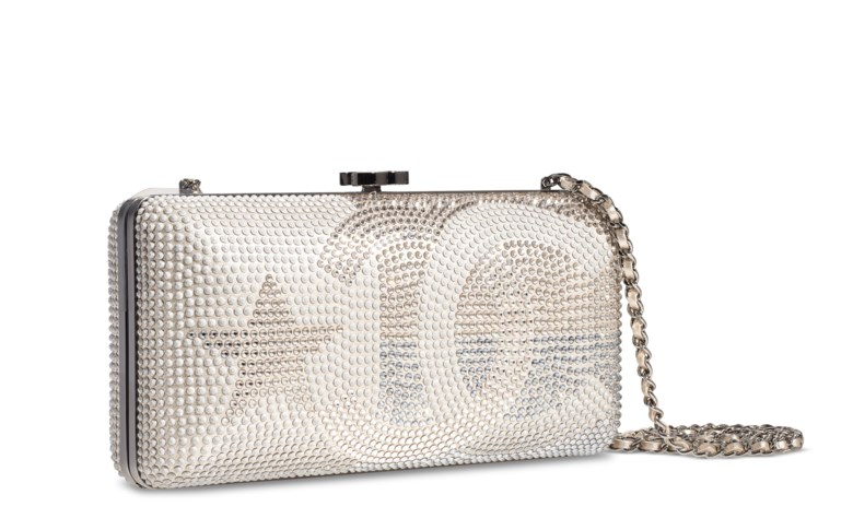 A Métiers dArt Paris-Dallas runway crystal evening bag, Chanel, 2014. 21 w x 10 h x 5 d cm. Estimate $2,000-3,000. Offered in  Handbags & Accessories Online The New York Edition, 24 November to 10 December 2020, Online