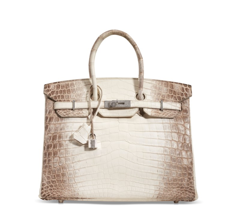 A rare matte Himalaya Niloticus Crocodile Diamond Birkin 35 with 18k white gold and diamond hardware, Hermès, 2012. 35 w x 25 h x 18 d cm. Estimate $200,000-250,000. Offered in  Handbags & Accessories Online The New York Edition, 24 November to 10 December 2020, Online