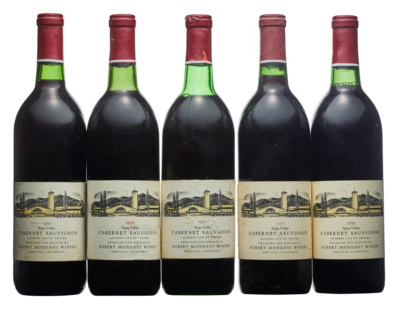 Mixed Robert Mondavi, Cabernet Sauvignon. Sold for $3,500 in  The Benjamin Ichinose Collection of Fine and Rare Wines, 16-31 July 2020, online