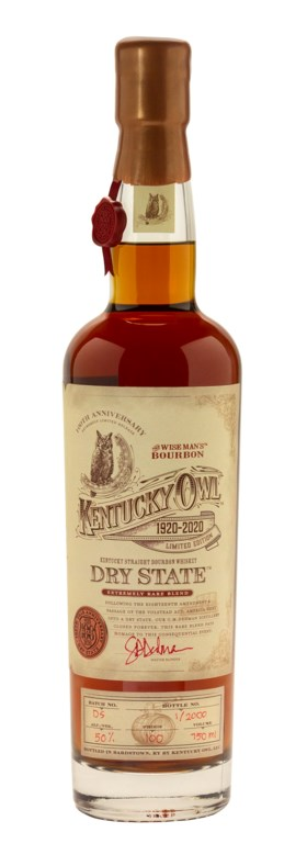 Kentucky Owl Dry State 100th Anniversary Edition Straight Bo