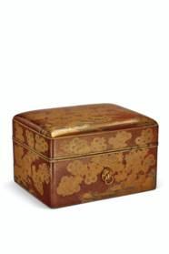 A LACQUER COSMETIC BOX (TEBAKO
