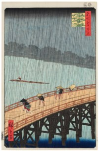Ohashi bridge, sudden shower at Atake
