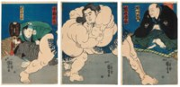Sumo Wrestlers Kagamiiwa Hamanosuke and Koyanagi Tsunekichi