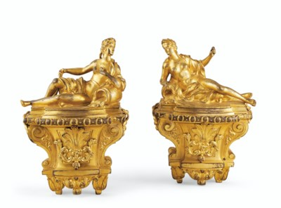 A PAIR OF LOUIS XIV ORMOLU CHE