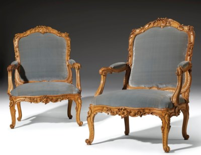 A PAIR OF LOUIS XV BEECHWOOD F