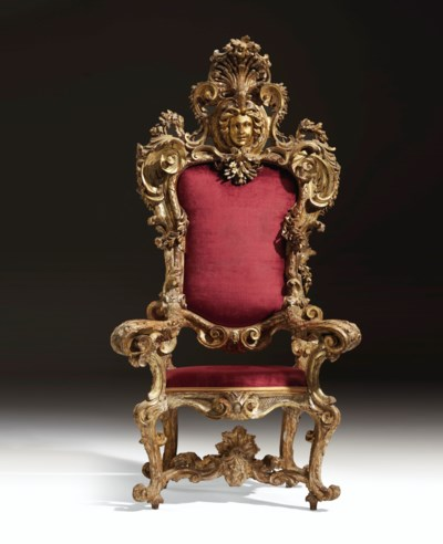 A SOUTH ITALIAN GILTWOOD AND '