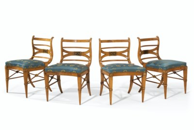 A SET OF FOUR ITALIAN BEECHWOO