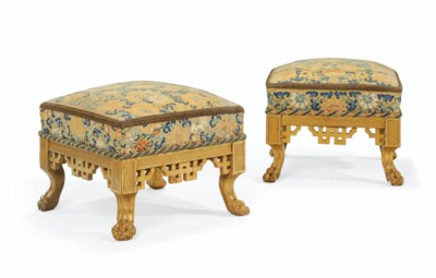 A PAIR OF NAPOLEON III GILTWOO