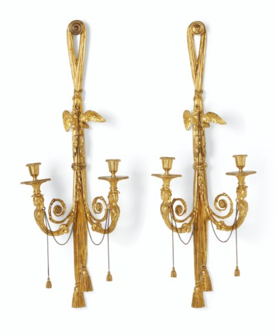 A PAIR OF LOUIS XVI ORMOLU TWI
