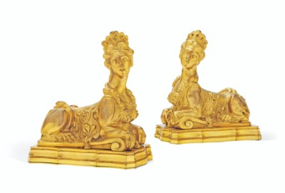 A PAIR OF FRENCH ORMOLU PRESSE