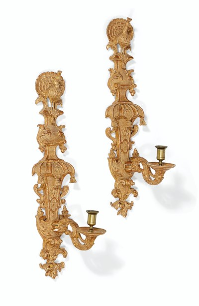 A PAIR OF QUEEN ANNE GILTWOOD