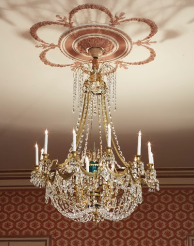 A RUSSIAN ORMOLU AND GREEN AND
