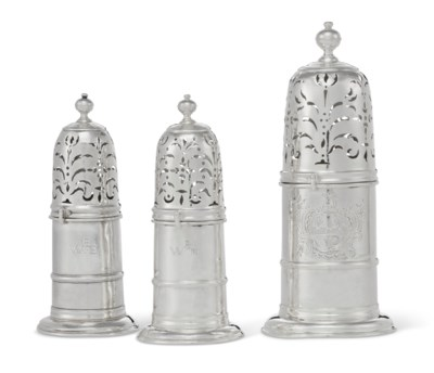 A SET OF THREE QUEEN ANNE SILV