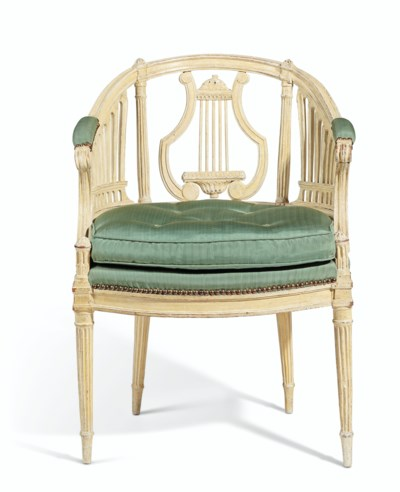 A LOUIS XVI WHITE-PAINTED FAUT