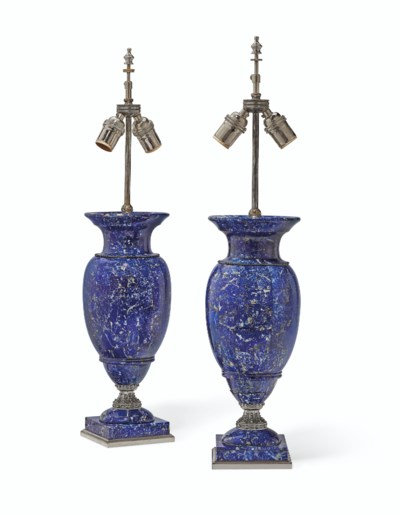 A PAIR OF RUSSIAN SILVERED-MET