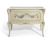 A LOUIS XV STYLE CREAM AND POL