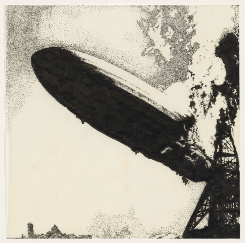 The original art for Led Zeppelins debut LP, George Hardie, 1969. Sold for $325,000 on 18 June 2020, Online