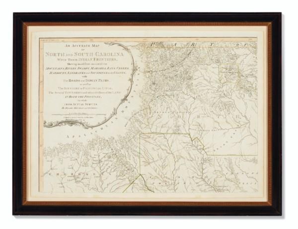 Mouzon's Map of the Carolinas