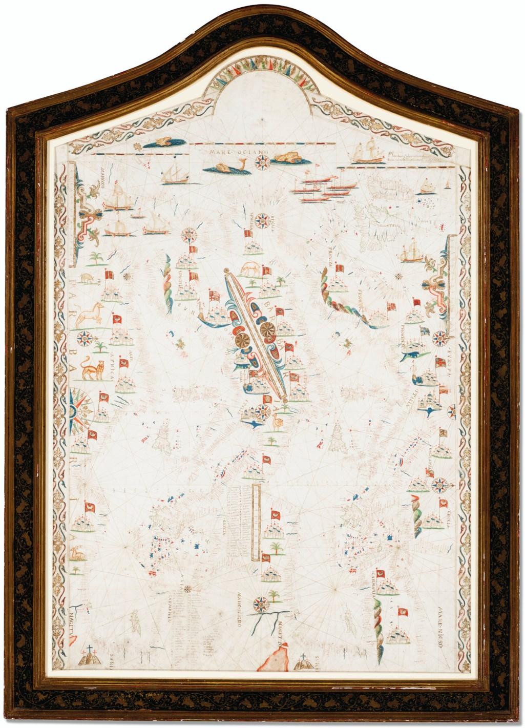 Portolan Chart of the Mediterranean
