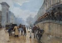 L'accident: Porte Saint-Denis