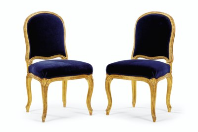 A PAIR OF ROYAL LOUIS XVI GILT