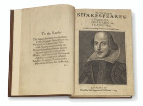 SHAKESPEARE, William (1564-1616) Comedies, Histories, and Tr