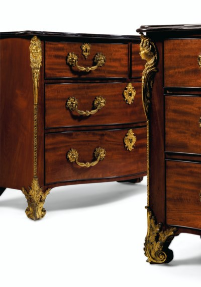 A PAIR OF GEORGE III GILT-BRON