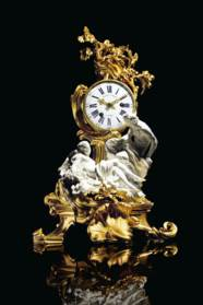 A LOUIS XV ORMOLU AND VINCENNE