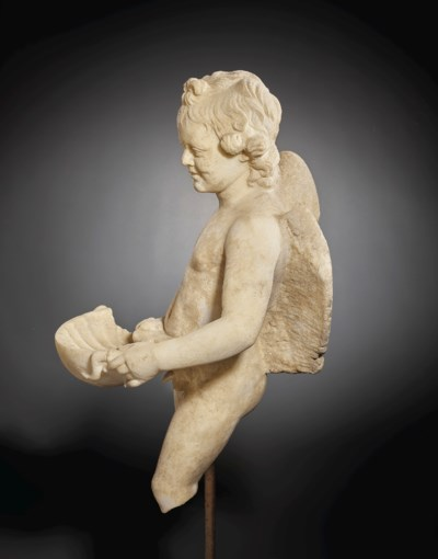 A ROMAN MARBLE EROS WITH A SHE