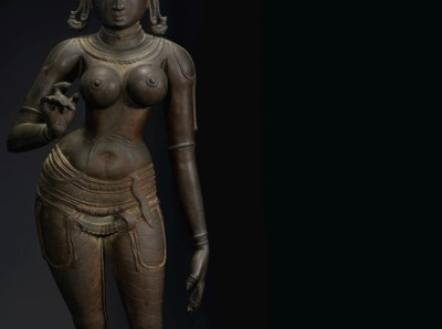 A LARGE BRONZE FIGURE OF UMA