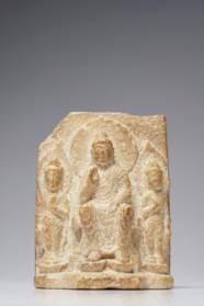 A STONE BUDDHIST STELE