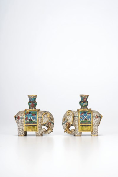 A PAIR OF MINIATURE CLOISONNÉ