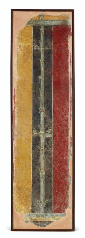 A ROMAN WALL PAINTING FRAGMENT