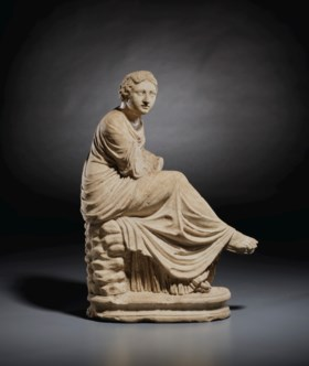 A ROMAN MARBLE MUSE OURANIA
