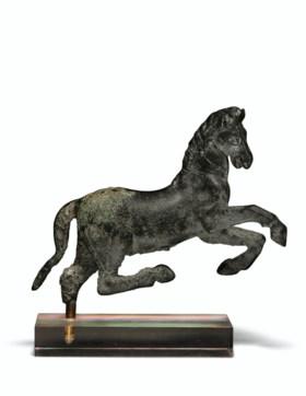 A ROMAN BRONZE HORSE