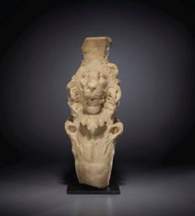 A ROMAN MARBLE TRAPEZOPHORUS