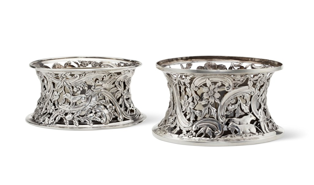 TWO SIMILAR VICTORIAN SILVER DISH RINGS