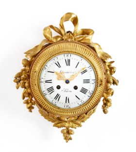 LOUIS XVI ORMOLU CARTEL CLOCK
