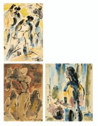 Untitled (Women Threshing; Standing Nude; Woman at the Window)