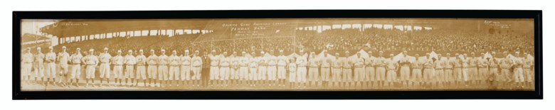 Panoramic photograph of the inaugural game at Fenway Park, 20 April 1912. Sold for $15,625 in Home Plate A Private Collection of Important Baseball Memorabilia on 16 December 2020 at Christie's in New York