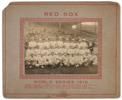 1916 Red Sox World Series Team