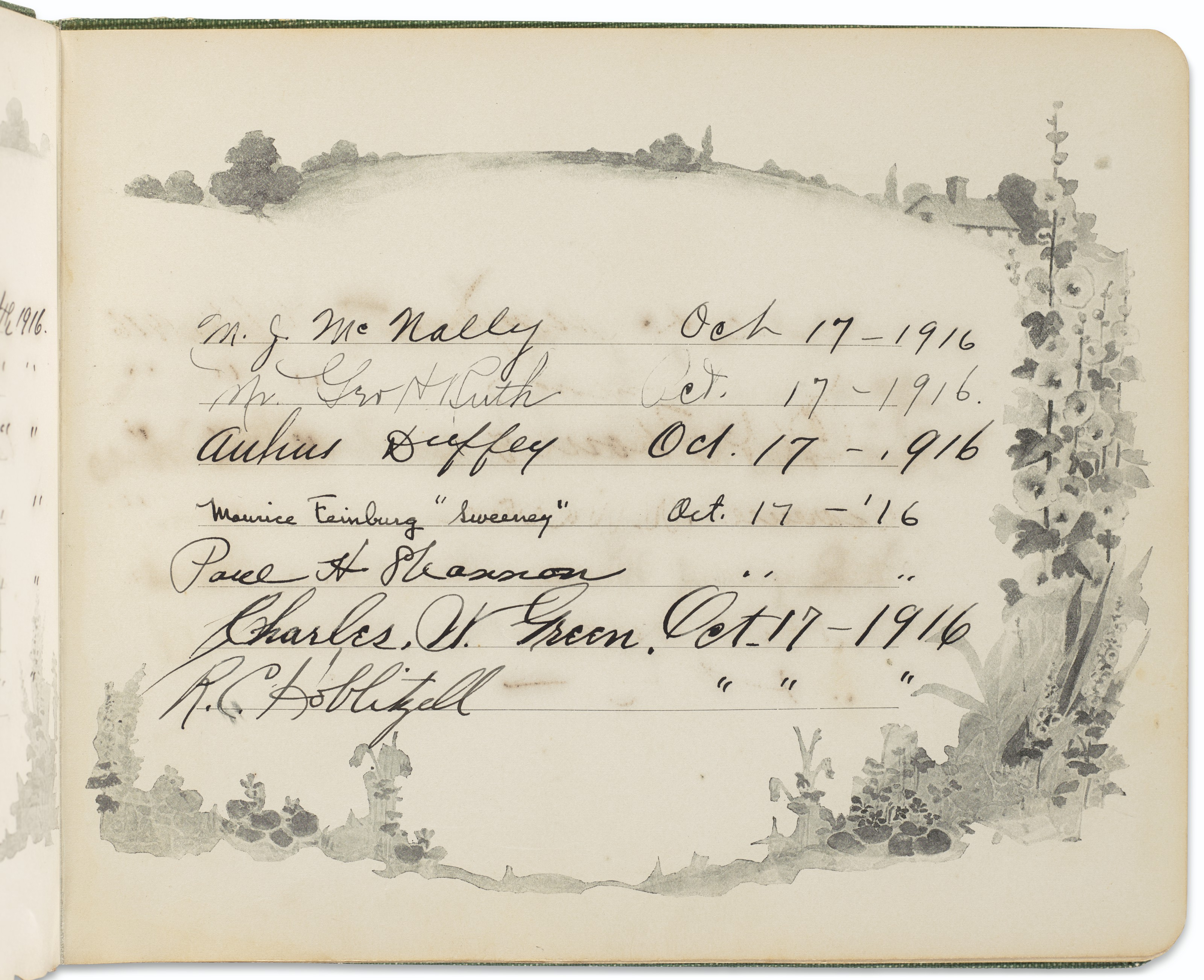 Significant Edward Maynard Boston Red Sox Photographic Archive and Autographed Guest Register c.1915-16 (Ex-Draper & Maynard Collection)