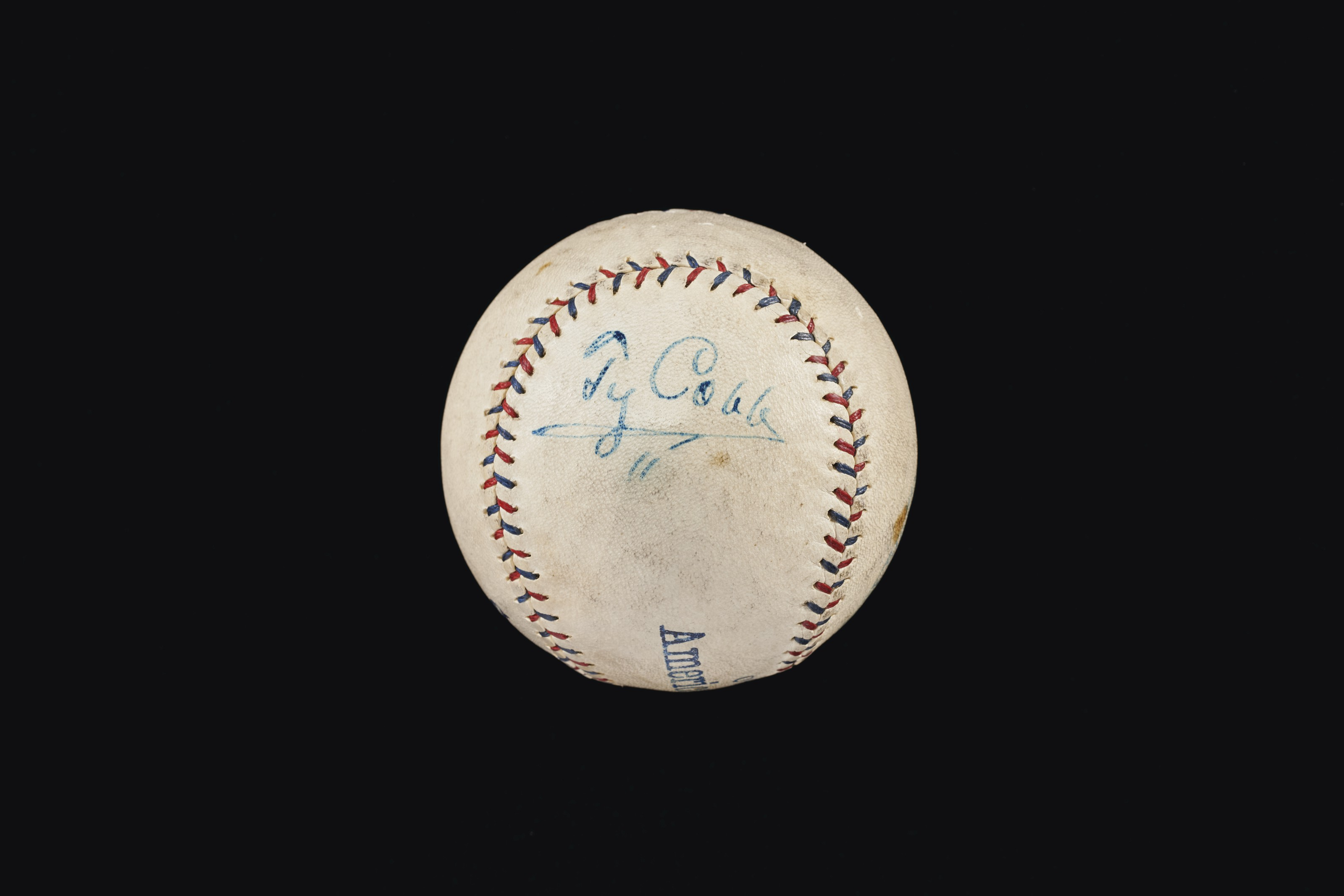 Ty Cobb Single Signed Baseball c.1920s: Scarce Playing Career Example (PSA/DNA 6.5)