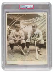 Rare Babe Ruth And Lou Gehrig