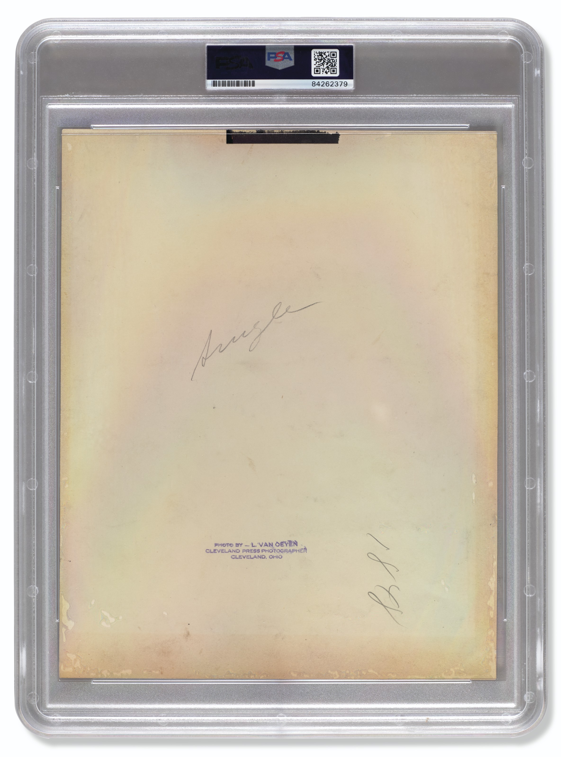 Rare Babe Ruth And Lou Gehrig Autographed Photograph by Louis Van Oeyen c.1927 (PSA/DNA 7.5 NM+)